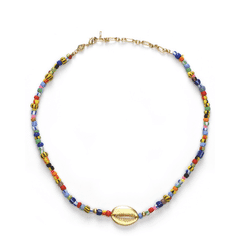 ANNI LU Alaia Cowry Shell Necklace Mix