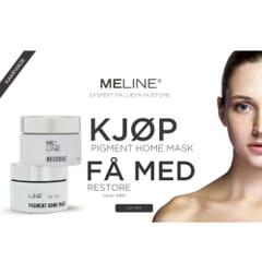 MeLine Pigment Home Mask - Få med Restore krem