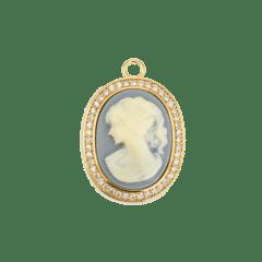 Emilia Large Camelia Charm Blue