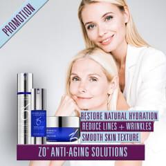 ZO Anti Age Solution- Kjøp Wrinkle+texture repair og Exfoliating polish-Få med 28ml Firming serum